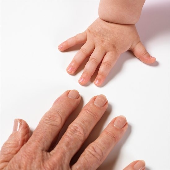 hands old-baby